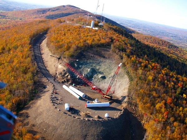 Clearance for and construction of wind turbine, Mars Hill, Maine